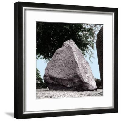 The Jelling Stone Was Erected by King Harald Bluetooth, the First Christian King of Denmark, in…--Framed Giclee Print