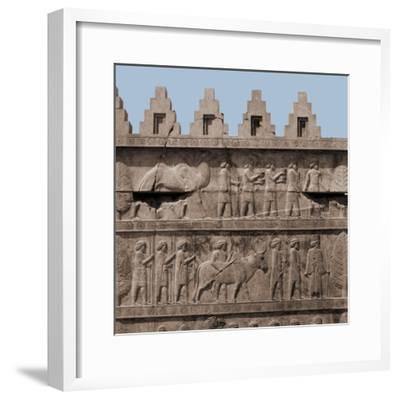 A Detail of the Reliefs on the Stairways Leading to the Audience Hall of Darius and Xerxes--Framed Giclee Print