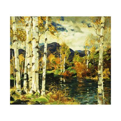 Birches-Jonas Lie-Framed Giclee Print