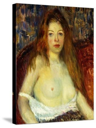 A Red-Haired Model-William James Glackens-Stretched Canvas Print