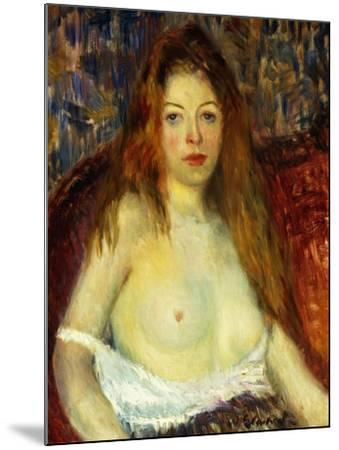 A Red-Haired Model-William James Glackens-Mounted Giclee Print