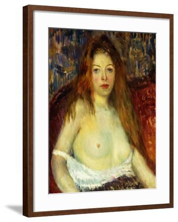 A Red-Haired Model-William James Glackens-Framed Giclee Print