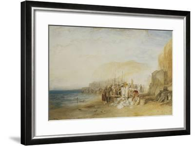 Hastings: Fish Market on the Sands, Early Morning, 1822-J^ M^ W^ Turner-Framed Giclee Print