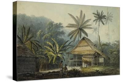 View in the Island of Crakatoa-John Webber-Stretched Canvas Print