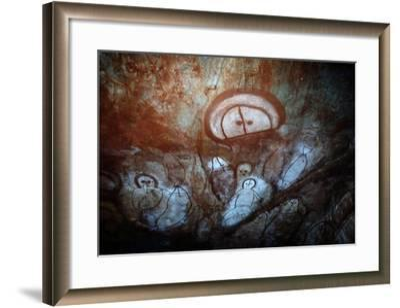 Aboriginal Cave Painting of a Wandjina--Framed Giclee Print