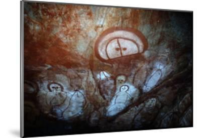 Aboriginal Cave Painting of a Wandjina--Mounted Giclee Print