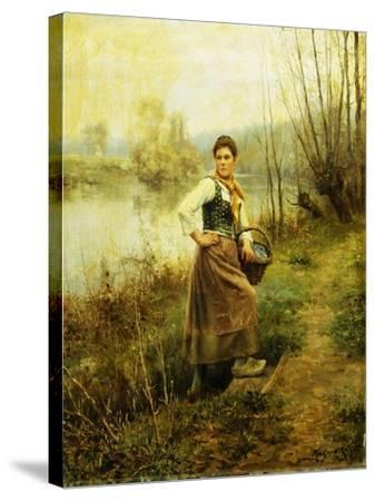 Country Girl-Daniel Ridgway Knight-Stretched Canvas Print