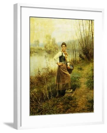 Country Girl-Daniel Ridgway Knight-Framed Giclee Print