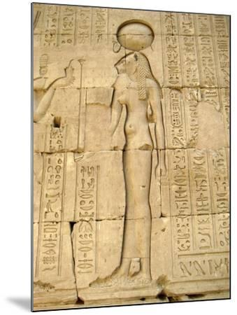 Reliefs of the Lion Goddess Sekhmet Holding the Ankh, Symbol of Life--Mounted Giclee Print