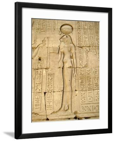 Reliefs of the Lion Goddess Sekhmet Holding the Ankh, Symbol of Life--Framed Giclee Print