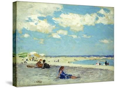 Long Beach-Edward Henry Potthast-Stretched Canvas Print