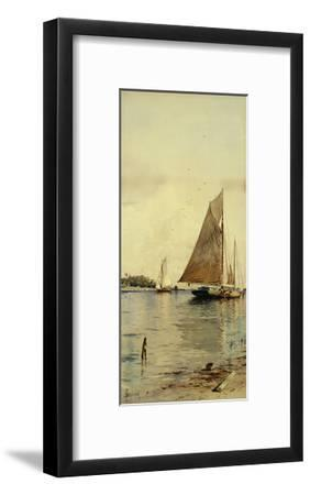 Drying the Sails, Oyster Boats, Patchogue, Long Island-Alfred Thompson Bricher-Framed Giclee Print