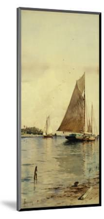 Drying the Sails, Oyster Boats, Patchogue, Long Island-Alfred Thompson Bricher-Mounted Giclee Print