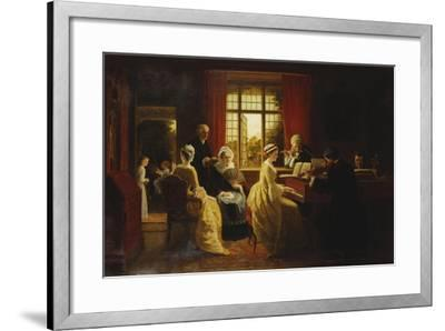 Music at the Parsonage-Frederick Daniel Hardy-Framed Giclee Print