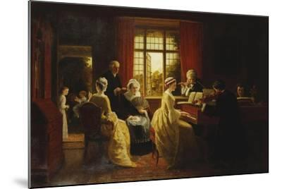 Music at the Parsonage-Frederick Daniel Hardy-Mounted Giclee Print
