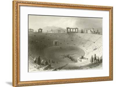 The Amphitheatre, Verona-William Henry Bartlett-Framed Giclee Print
