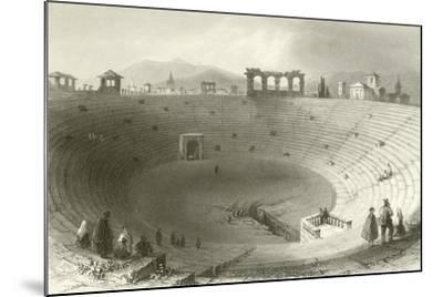 The Amphitheatre, Verona-William Henry Bartlett-Mounted Giclee Print