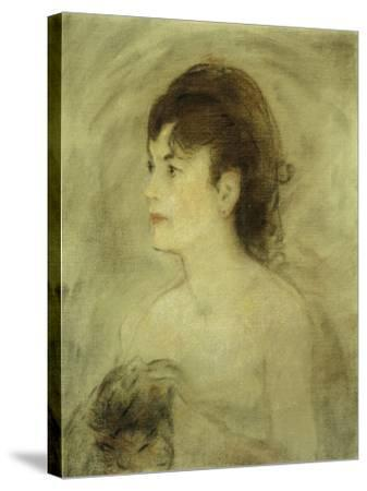 Jeune Femme Decolletee, 1882-Edouard Manet-Stretched Canvas Print