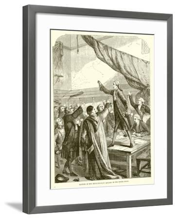 Meeting of the Revolutionary Leaders in the Tennis Court--Framed Giclee Print