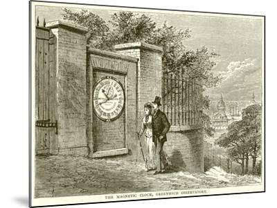 The Magnetic Clock, Greenwich Observatory--Mounted Giclee Print