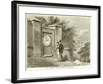 The Magnetic Clock, Greenwich Observatory--Framed Giclee Print
