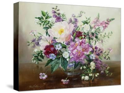 Flowers in a Glass Vase-Albert Williams-Stretched Canvas Print