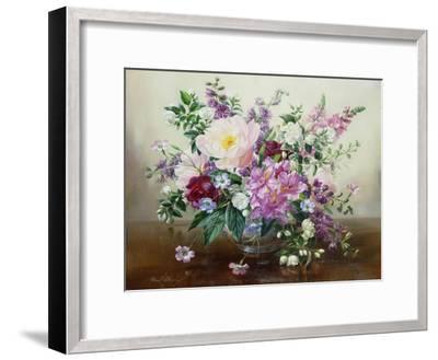 Flowers in a Glass Vase-Albert Williams-Framed Premium Giclee Print