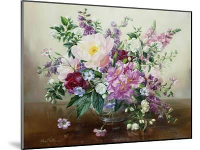 Flowers in a Glass Vase-Albert Williams-Mounted Premium Giclee Print