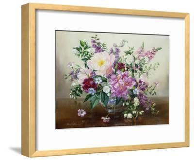 Flowers in a Glass Vase-Albert Williams-Framed Giclee Print