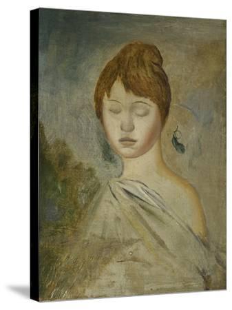 Head of a Young Woman; Tete De Jeune Femme, C.1887-Pierre-Auguste Renoir-Stretched Canvas Print