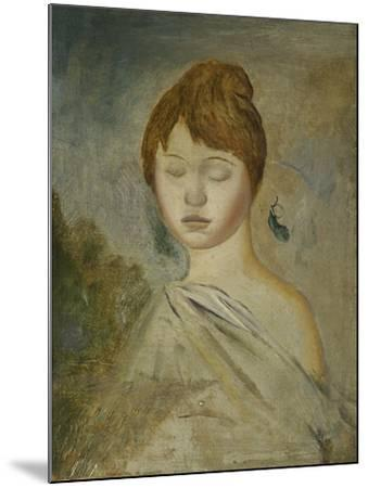 Head of a Young Woman; Tete De Jeune Femme, C.1887-Pierre-Auguste Renoir-Mounted Giclee Print