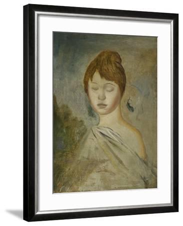 Head of a Young Woman; Tete De Jeune Femme, C.1887-Pierre-Auguste Renoir-Framed Giclee Print