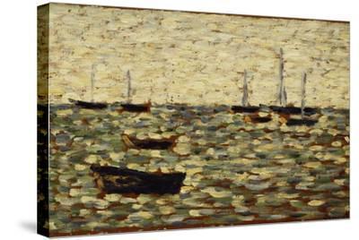 The Sea at Grandcamp; La Mer a Grandcamp, 1885-Georges Seurat-Stretched Canvas Print