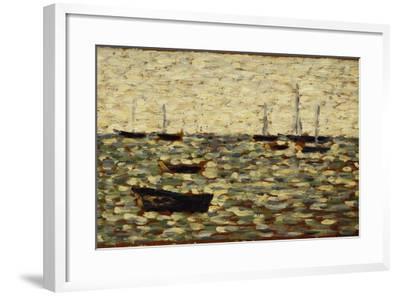 The Sea at Grandcamp; La Mer a Grandcamp, 1885-Georges Seurat-Framed Giclee Print