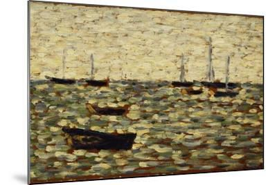 The Sea at Grandcamp; La Mer a Grandcamp, 1885-Georges Seurat-Mounted Giclee Print