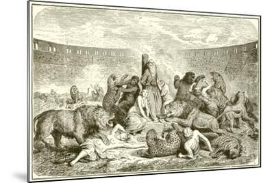 Christian Martyrs in the Arena-English School-Mounted Giclee Print