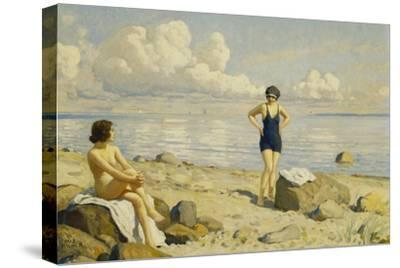 On the Beach-Paul Fischer-Stretched Canvas Print
