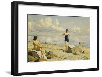 On the Beach-Paul Fischer-Framed Giclee Print