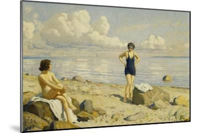 On the Beach-Paul Fischer-Mounted Giclee Print