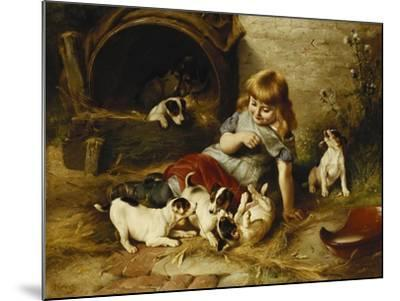 Playmates, 1890-Walter Hunt-Mounted Giclee Print