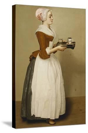 Cup of Chocolate; La Tasse Du Chocolat-Jean-Etienne Liotard-Stretched Canvas Print