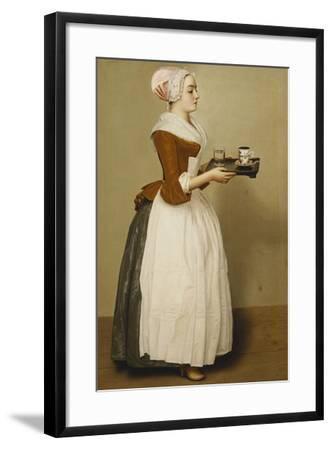 Cup of Chocolate; La Tasse Du Chocolat-Jean-Etienne Liotard-Framed Giclee Print