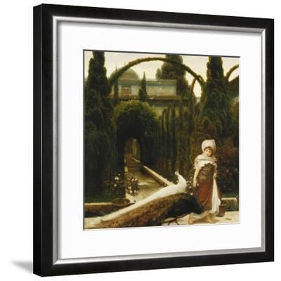Moorish Garden; a Dream of Granada-Frederick Leighton-Framed Premium Giclee Print