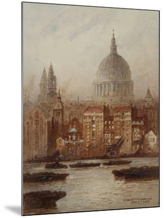 Saint Paul's from Bankside-Frederick E.J. Goff-Mounted Giclee Print