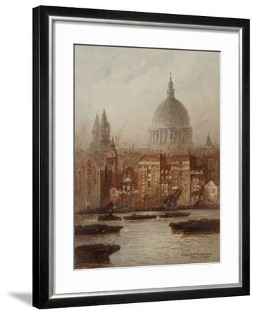 Saint Paul's from Bankside-Frederick E.J. Goff-Framed Giclee Print