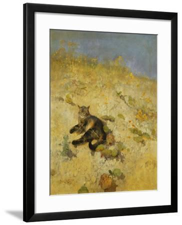 A Cat Basking in the Sun, 1884-Bruno Andreas Liljefors-Framed Giclee Print