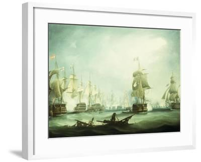 The Battle of Trafalgar, 1805-Thomas Buttersworth-Framed Giclee Print