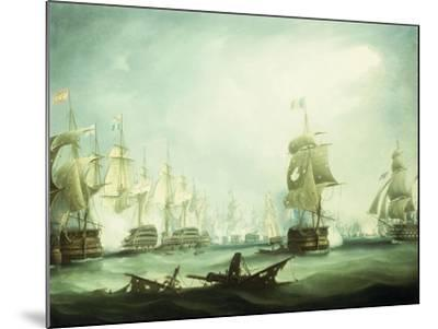The Battle of Trafalgar, 1805-Thomas Buttersworth-Mounted Giclee Print