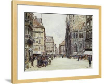 Stefanplatz, Vienna-Rudolf Bernt-Framed Giclee Print