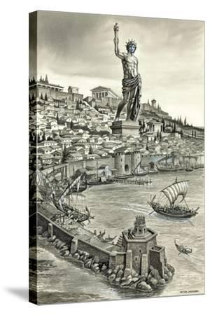 Colossus of Rhodes-Peter Jackson-Stretched Canvas Print
